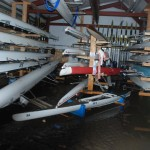 Inside Barry Wood boatshed 26 Dec 2015